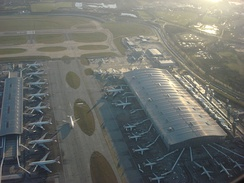 Terminal 5 bird's-eye view