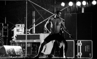 Rollins performing with the Rollins Band in 1993