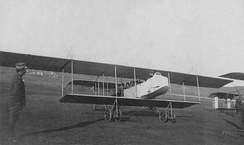 An HF.20 biplane at Nicopolis airfield, near Preveza, in December 1912