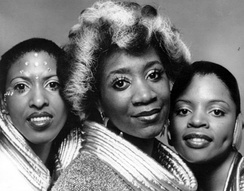 LaBelle (c) with her Labelle band mates Nona Hendryx and Sarah Dash in a 1974 promotional photo
