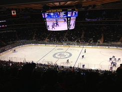 The 18,006-seat Madison Square Garden in New York City, home to the NHL's New York Rangers.