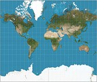Mercator projection (82°S and 82°N.)