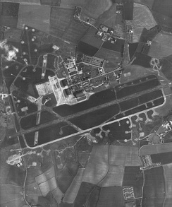 RAF Molesworth circa early to mid-1960s. With the arrival of the Cold War 582nd Resupply Group in 1953, the station was modernised with the construction of a 9,000 feet jet runway and permanent facilities, overlaid over the World War II Eighth Air Force airfield. This configuration existed until about 1980.