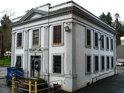 The old Clatsop County Jail, scene of the Fratelli jail break. The site is now home to the Oregon Film Museum.