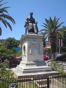 Statue of Panayis Athanase Vagliano, merchant and shipowner from Cephalonia, in Argostoli.