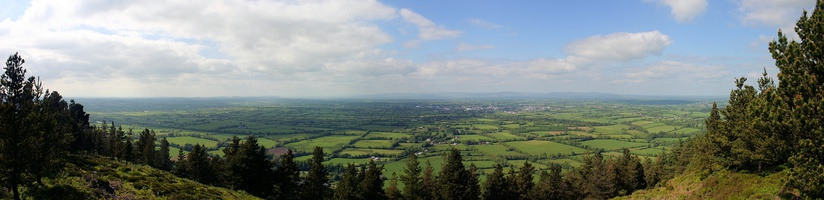 Panoramic view of Tipperary and surroundings