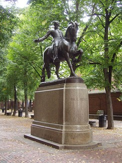 This Paul Revere Statue in North End, Boston was made by Cyrus Dallin and unveiled on September 22, 1940.