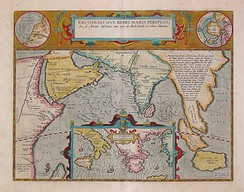 17th century map depicting the locations of the Periplus of the Erythraean Sea