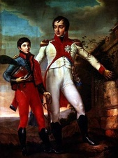Louis with his son Napoleon Louis Bonaparte