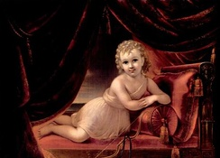 Portrait of a Child as Cupid, a portrait of Van Rensselaer's grandson, William Paterson Van Rensselaer, Jr., painted by Francesco Anelli, c. 1836–37