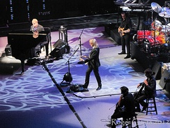 The Elton John Band 15 March 2012 Left to Right: John, Johnstone, Birch, and (not pictured, right), Olsson and Cooper