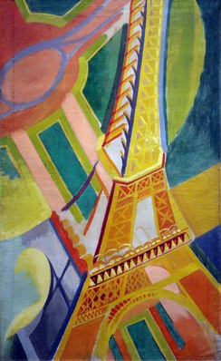Tour Eiffel, 1926, one of the Eiffel Tower series by Robert Delaunay