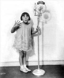 Baby Rose Marie, NBC Radio star in 1930