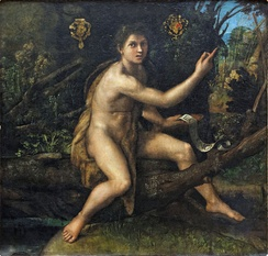 St. John the Baptist in the Wilderness by Raphael, circa 1517