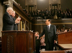 Berlusconi addressing a joint session of the U.S. Congress in 2006