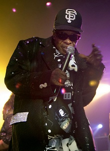 Sly Stone performs with the Family Stone in 2007.