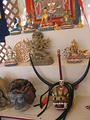 Masks and other objects in the Bhutanese craft tent
