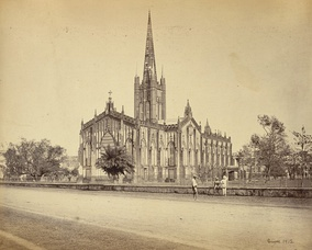 St. Paul's Cathedral was built in 1847 and served as the chair of the Bishop of Calcutta, who served as the metropolitan of the Church of India, Burma and Ceylon.[76]