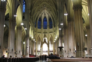 The nave of the St. Patrick's Cathedral, New York City; completed in 1878