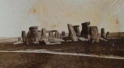 An early photograph of Stonehenge taken July 1877