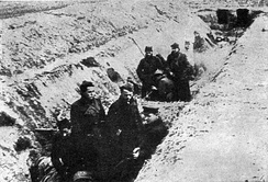 In the trenches of the Syrmian Front, December 1944.