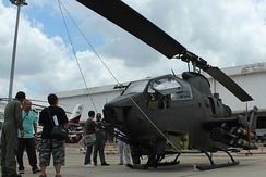 AH-1F Cobra attack helicopter during air show at Don Mueang Air Force Base