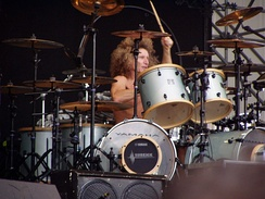 Tommy Aldridge pioneered[citation needed] the use of double bass drums in hard rock and heavy metal music.