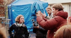 Hooper directing the second unit of Les Misérables on location in Winchester, April 2012
