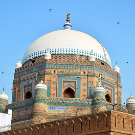 The Tomb of Shah Rukn-e-Alam is part of Pakistan's Sufi heritage.[637]