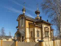 The wooden church of Sts. Peter and Paul in Tornio, build in 1884.