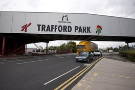 The Trafford Park factory in Greater Manchester, England—Kellogg's European base since 1938.[4] The factory produces more cornflakes than any other Kellogg's factory in the world.[72]