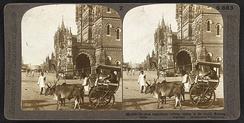 """The most magnificent railway station in the world."" says the caption of the stereographic tourist picture of Victoria Terminus, Bombay, which was completed in 1888"