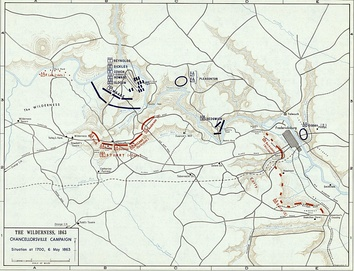 Battle of Chancellorsville, 6 May 1863 (Situation at 1700)
