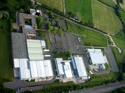 Aerial view of the Williams F1 factory in Grove, Oxfordshire