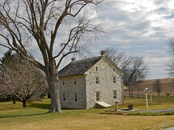 Byers-Muma House, East Donegal Township, Lancaster County, Pennsylvania, built ca. 1740; German Colonial
