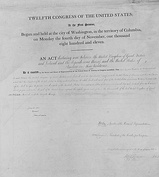 The U.S. Declaration of War (left) and Issac Brock's Proclamation in response to it (right)