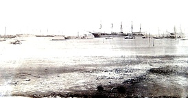 British naval and support ships in the Gulf of Zula, December 1867