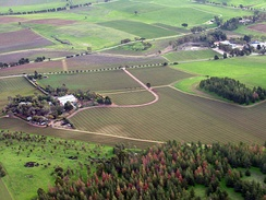 The Barossa Valley in South Australia is an area noted for vineyards.