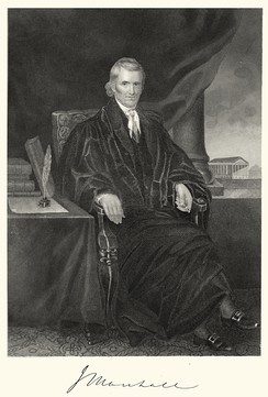 Steel engraving of John Marshall by Alonzo Chappel