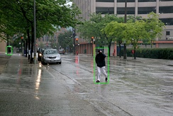 A self-driving car system may use a neural network to determine which parts of the picture seem to match previous training images of pedestrians, and then model those areas as slow-moving but somewhat unpredictable rectangular prisms that must be avoided.[85][86]