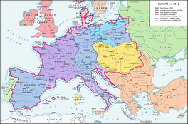 The French Empire in 1812 at its greatest extent