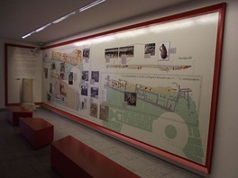 Permanent exhibition in a German multi-storey car park, explaining the archaeological discoveries made during the construction of this building