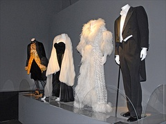 Costumes worn by Giulietta Masina and Marcello Mastroianni in Ginger and Fred
