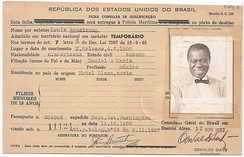 Record of Armstrong's visit to Brazil, 1957.