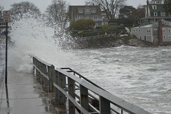Flooding in Marblehead, Massachusetts, caused by Hurricane Sandy on October 29.