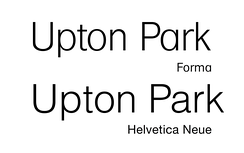 Forma compared to Helvetica Neue