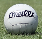 The ball used for a match, made by Irish company O'Neills