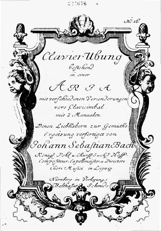 Title page of the Goldberg Variations – performed by Mehmet Okonsar, piano:  Aria and Variation 1–9 •  Variation 10–22 •  Variation 23–30 and Aria da capo