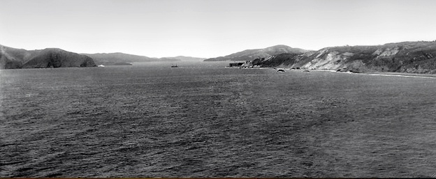 "The Golden Gate as seen from ""Land's End"" in Lincoln Park on the Northwest tip of the San Francisco Peninsula c1895."