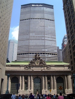 The MetLife Building was completed in 1963 above Grand Central Terminal.